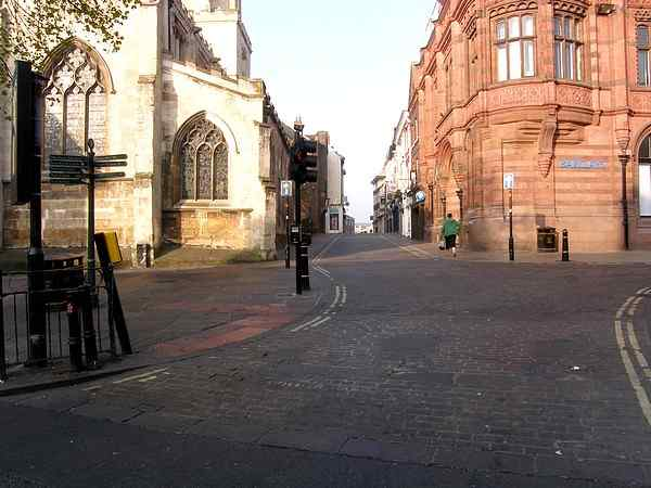 Leading from Pavement to the river crossing at Ouse Bridge and on into Micklegate.