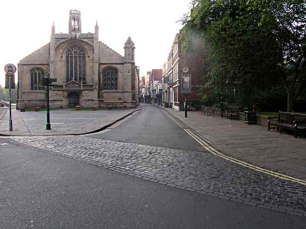 Looking towards Low Petergate and King's Square.
