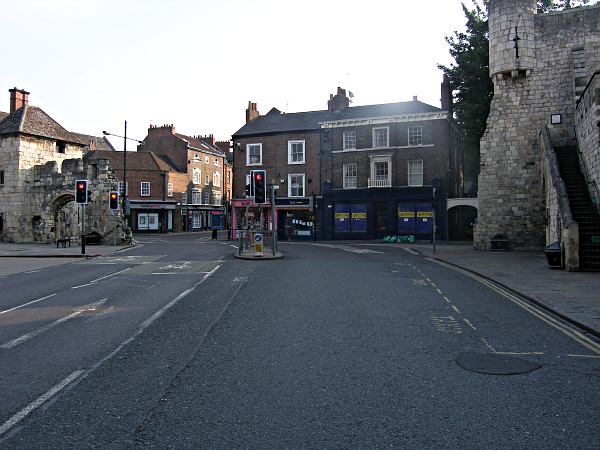 Looking towards Bootham Bar and High Petergate.