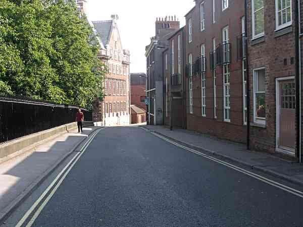 Looking towards Rougier Street and the river.