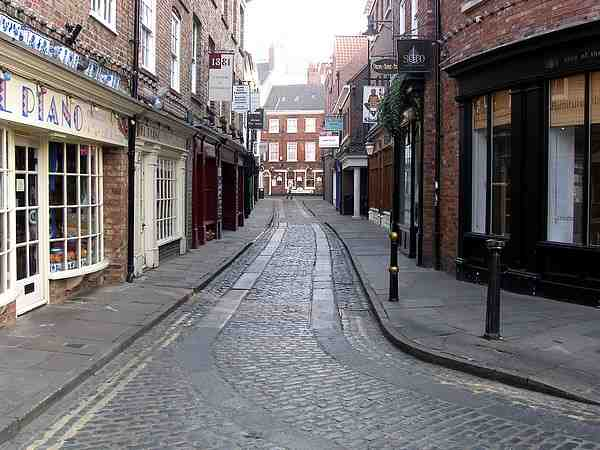Looking towards High Petergate.
