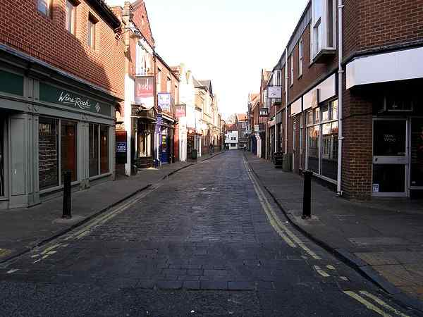Looking towards Stonegate and High Petergate.